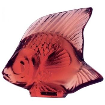 Fish ornament, H4.5 x L5.3cm, red