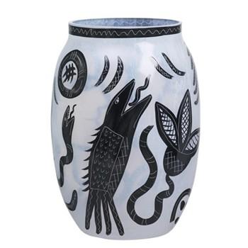 Caramba Large vase, 34cm, white with print