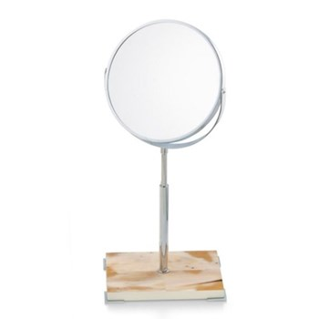 Double sided make-up mirror 20 x 14cm, adjustable height