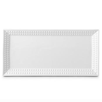 Perlee Rectangular platter, 41 x 20cm, white