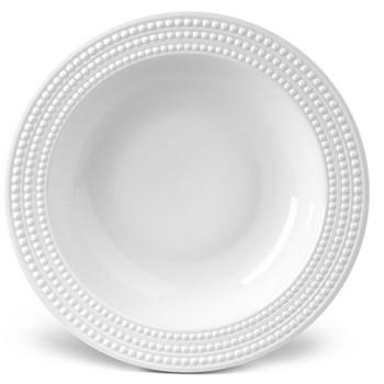 Perlee Rimmed serving bowl, 37cm, white