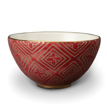 Fortuny Set of 4 cereal bowls, 14cm, jupon red