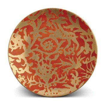 Fortuny Set of 4 dessert plates, 20cm, pergolesi orange