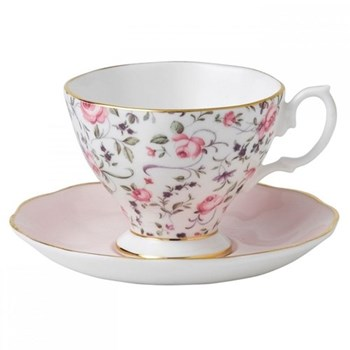 Rose Confetti - Vintage Espresso cup and saucer boxed
