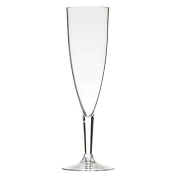 Coolmovers Set of 6 champagne flutes, clear polycarbonate