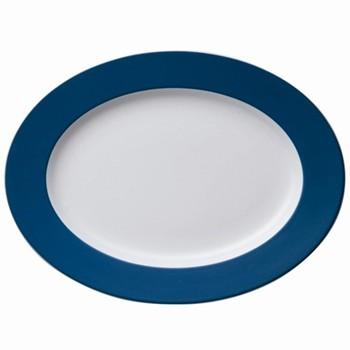 Sunny Day Oval platter, 33cm, petrol