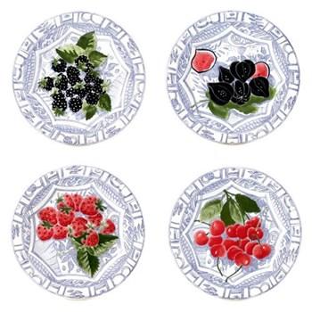 Set of 4 canape plates 16.5cm