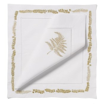 Fern Set of 4 napkins, 54 x 54cm, silver