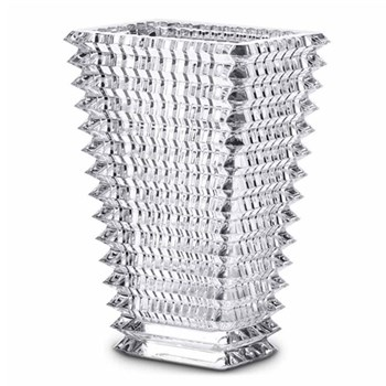 Eye Rectangular vase, 20cm, clear
