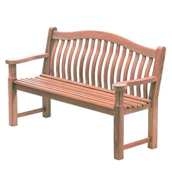 Turnberry Bench, 5ft, mahogany