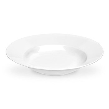 Serendipity Set of 4 soup plates, 23cm, white