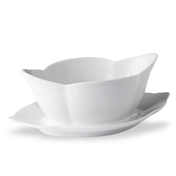 White Fluted Sauce boat, 0.55 litre