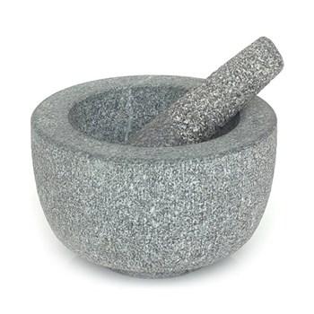 Pestle and mortar, 20.5 x 11 x 19.5cm, granite