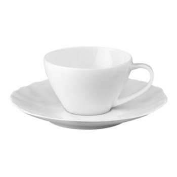 Digital Set of 6 coffee cups and saucers, 8cl, white