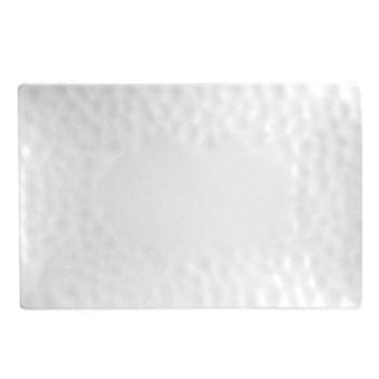 Digital Pair of rectangular coupe plates, 30.5 x 24.5cm, white