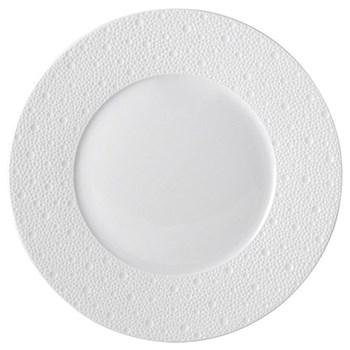 Ecume Set of 6 dinner plates, 26cm, white