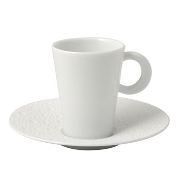 Ecume Set of 6 coffee cups and saucers, 6cl, white