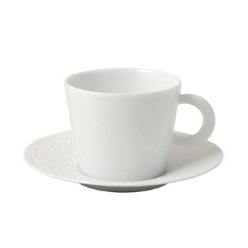 Ecume Set of 6 teacups and saucers, 17cl, white