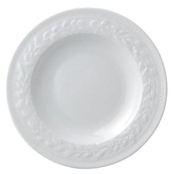 Louvre Set of 6 rim soup plates, 22cm, white