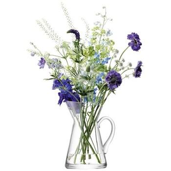 Flower Jug vase, 26cm, clear