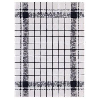 Fraises Set of 4 tea towels, 80 x 60cm, noir