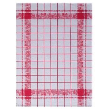 Fraises Set of 4 tea towels, 80 x 60cm, rouge
