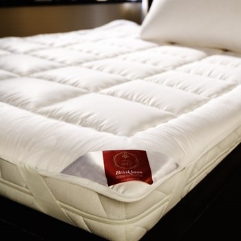 The Exquisit Mattress topper, 140 x 190cm, wool and Egyptian cotton