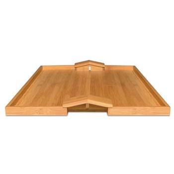 Michele De Lucchi Bamboo tray, 46.6 x 36.6 x 3.8cm, bamboo wood