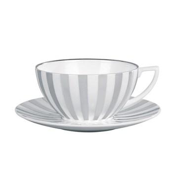 Jasper Conran - Platinum Tea saucer, striped