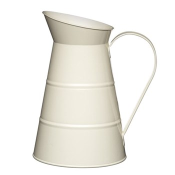 Living Nostalgia Water jug, 2.3 litre, cream enamelled steel