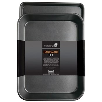Master Class - Non-Stick Roast pan and oven tray, 34 x 26cm (roaster) - 39 x 27cm (tray)