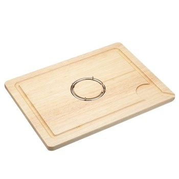 Spiked wooden chopping board, 40 x 30 x 1.8cm