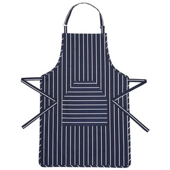 Butcher's Stripe Apron, 90 x 60cm, blue