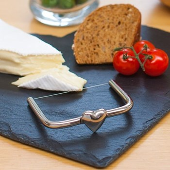Heart Cheese wire, 10 x 8.5cm, stainless steel