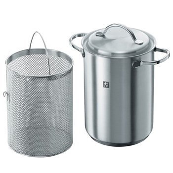 Twin Pasta/asparagus pot, 16cm, stainless steel