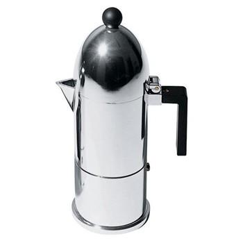 La Cupola by Aldo Rossi Espresso coffee maker, 6 cup, black handle