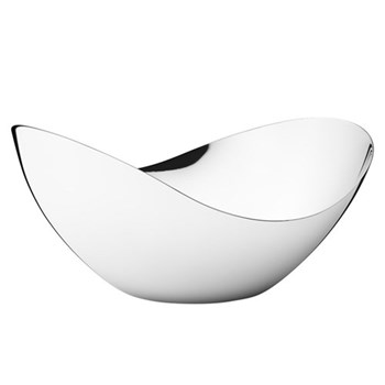 Bloom Tall bowl, L22 x W14 x H11.2cm, mirrored stainless steel