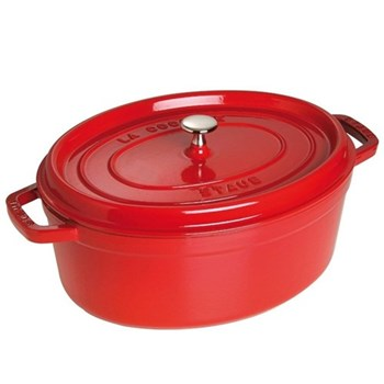 Oval cocotte, 37cm, red