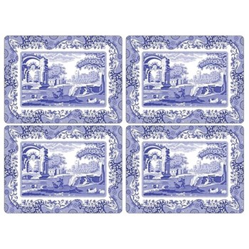 Blue Italian Set of 4 placemats, 40 x 29cm