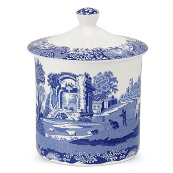 Blue Italian Storage jar, 19cm