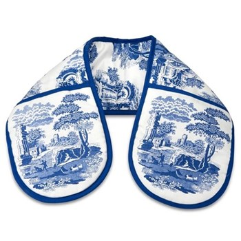 Blue Italian Pimpernel oven gloves