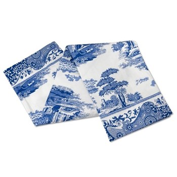 Blue Italian Pimpernel tea towel