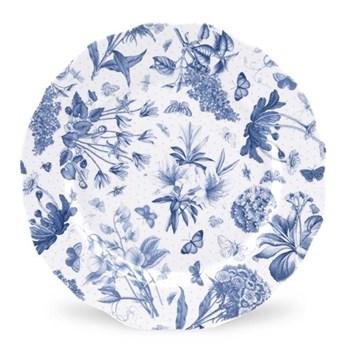 Botanic Blue Set of 4 dinner plates, 27cm