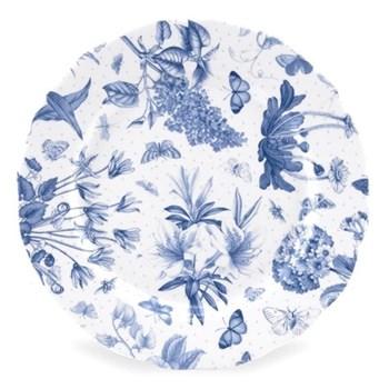Botanic Blue Set of 4 dessert plates, 21cm