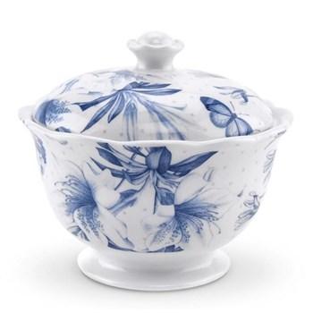 Botanic Blue Covered sugar bowl