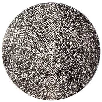Acrylic - Shagreen Print Set of 4 round coasters, 10cm, charcoal