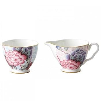 Harlequin Collection - Cuckoo Tea Story Sugar and creamer set