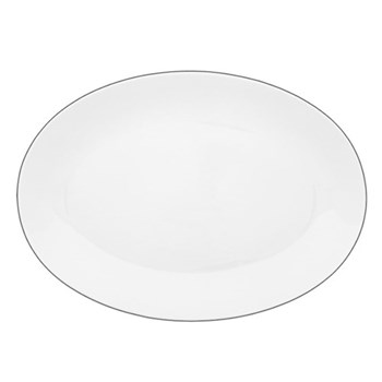 Monceau Couleurs Oval dish large, 42 x 30cm, pearl grey