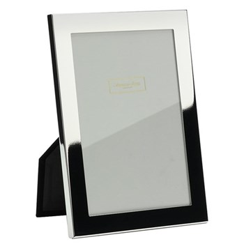 "Square Cut Photograph frame, 5 x 7"" with 15mm border, silver plate with velvet back"
