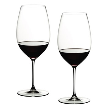 Pair of new world shiraz glasses H24.6 x D9.5cm - 65cl